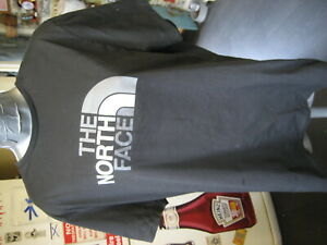 """the north face black graphic short sleeved t shirt top size L 42"""" chest"""