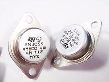 2 x 2n3055 Power transistor si NPN 70v 15a 115w hfe:70 (to3) #14t31#