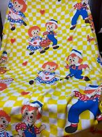 Vintage Raggedy Ann & Andy Flat Twin Sheet The Bobbs-Merrill Company Inc. Rare