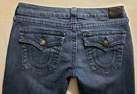 True Religion Womens Denim Blue Jeans Size 29 x 33 Straight Leg Medium Wash EUC