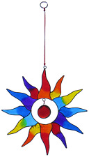 Stunning Sun Shaped Hanging Resin Brightly Coloured Rainbow Star Suncatcher