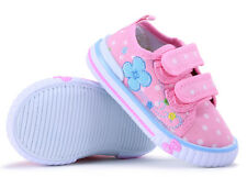 SPRING girls canvas shoes trainers size 6 UK BABY Toddler INFANT