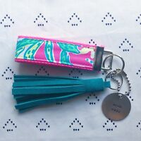 "Lilly Pulitzer Pink Trunk Show Key Fob Wristlet (1.25"" width, 9"" length)"