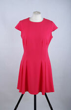 P398/54 Definitions  Coral Pink Skater Dress, size UK 14 Short
