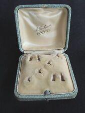 Ancienne Boite / écrin à bijoux parure bague boucles d'oreilles jewellery box