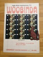 Spartito WOOBINDA sigla trasmissione TV musica R.Zara edizioni Usignolo 1979