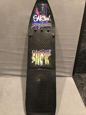 Vintage 1990's Snow Thrasher Snowboard Black Snow Snowboarding Green Black