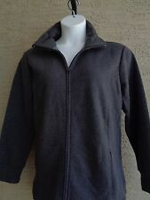 1f40953a27d89 New Just My Size 4X Cotton Blend Fleece Lined Zip Front Mock Neck Jacket  gray