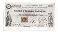 1865 CIVIL WAR $300 Bucks County Bounty Fund Bond, Pennsylvania - RARE!