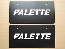 JDM SUZUKI PALETTE Original Dealer Showroom Display License Plates Pair