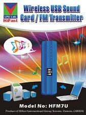 HiFast USB Wireless FM Audio Transmitter  for Laptop & Desktop Computer HFM7U
