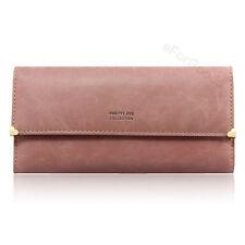 Brand New  Matte PU Leather Women's Wallet Ladies Card Purse Clutch  Handbag Bag