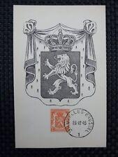 BELGIEN MK 1945 WAPPENLÖWE 1936 MAXIMUMKARTE CARTE MAXIMUM CARD MC CM a6652
