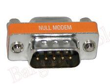 High Quality Mini Null Modem DB9 Male / DB9 Female Adapter(AD912NU)
