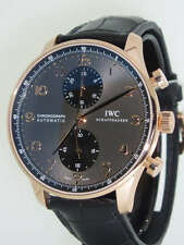 IWC Portuguese Chronograph Rose Gold IW3714-82 Slate Dial Mens Watch