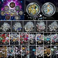 Hot Fix Glass Crystal Rhinestones Iron On Diamonds Flat Back Nail Art Decoration