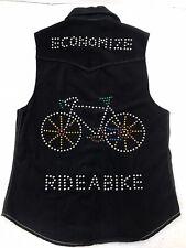 Norman's Atlanta Economize Ride A Bike Vtg Studded Black Vest Sleevless Top