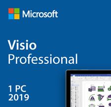 Microsoft Visio 2019 Professional Office Key Brand New