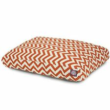 Burnt Orange Chevron Extra Large Rectangle Indoor Outdoor Pet Dog Bed With Re.