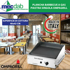 Plancha Barbecue a Gas Metano/GPL Piastra Singola Ompagrill
