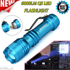 ZOOMABLE 6000lm Q5 LED Tactical Flashlight AA/14500 3 Modes Light Lamp Torch