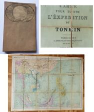 Carte Expédition du Tonkin 1884 - Guerre France Chine