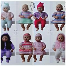 KNITTING PATTERN Premature/Dolls EASY KNIT Collection Outfits DK King Cole 4000