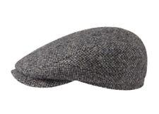 Stetson Hatteras 100% Wool GATSBY Cap Flat Driver Medium 57cm 7 1/8 Gray/black