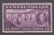 Newfoundland 1937 #243 Long Coronation Issue (Fishing Fleet) F/VF MNH