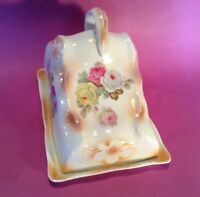 Large Cheese Keeper or Butter Dish - Hand Painted Luster Porcelain - Germany