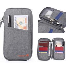Travel Wallet Blocking Document Organizer Bag, Family Passport and Ticket Holder