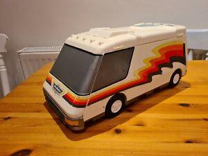 Vintage 1991 MICRO MACHINES Galoob Super City Van Camper RV Fold Out Playset