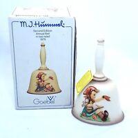 Vintage MJ Hummel 1979 Goebel Annual Porcelain Bell 2nd Edition in original box