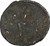 Gratian 378AD Rare Ancient Roman Coin Roma seated with globe & spear i42677