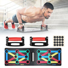 12 In 1 Folding Push Up Rack Board Stand Body Building Fitness Gym Exercise Tool