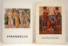 ARTE 2 cataloghi Gall. LA VETRATA: Borghese DUELLO 1985/Pirandello PASTELLI 1983