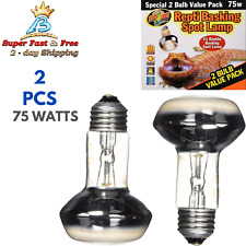 Reptile Heat Lamp Set Uva Heater Light Night Spot Emitter Basking 75 Watts Pack