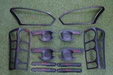 Fit Isuzu D-Max 4Dr 15-17 Matte Black Head Tail Lamp Handle Cover Black Trim Set
