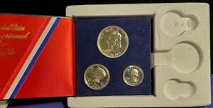 1976 USA 3-COIN 40% SILVER PROOF SET IN ORIGINAL PACKAGING