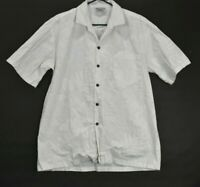 Pacific Legend Apparel Men's Large Made in USA Button Up Hawaiian Shirt White