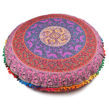 Indian Multi-Color Throw Decorative Floor Pillow Cushion Cover Mandala