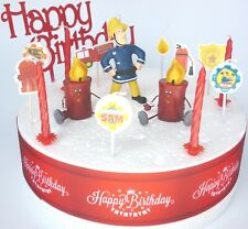 FIREMAN SAM Cake Decoration Set  - Cake Topper Figure Decoration Birthday