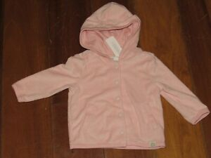 Gymboree Baby Girls Pink Hoodie Sweater Snap Front Cover Up NB 0 3 6 9 12 Months