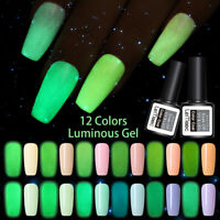 LEMOOC Leuchtend 8ml Nagel Gellack Luminous Gel Nail Polish Soak Off UV Gel