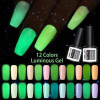 LEMOOC Leuchtend 8ml Nagel Gellack Luminous Gel Nail Polish Soak Off UV Gel