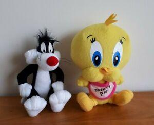 Looney Tunes Plush Tweety Bird + Sylvester Cat Soft Stuffed  Toy  18CM
