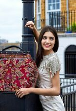 MARY POPPINS LARGE VICTORIAN-STYLE CARPET BAG. NEW