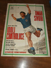Manifesto,1965,IDOLI CONTROLUCE,OMAR SIVORI,CALCIO FOOTBALL SOCCER,NAPOLI JUVE