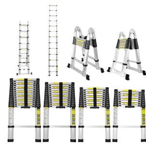 Échelle Télescopique Extensible Escabeau Echelle Escamotable 2.6m - 5m