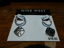 Nine West Silver Hammered Earrings - NEW